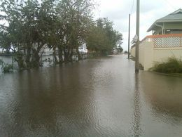 Flooding after Hurricane Tomas