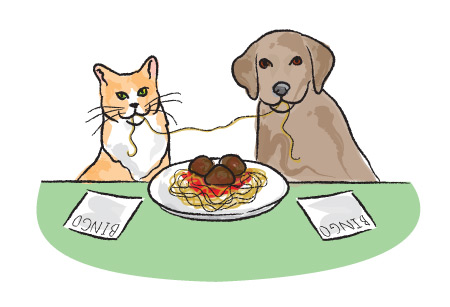 Spaghetti Bingo Illustration